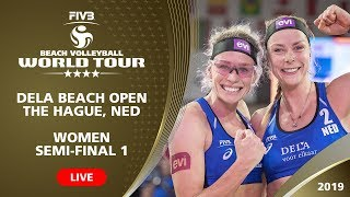 The Hague 4-Star 2019 - Women SF1 - Beach Volleyball World Tour