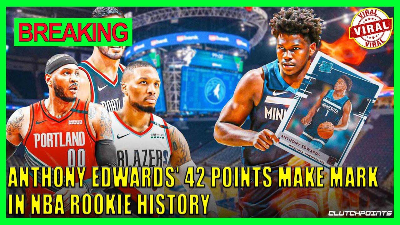 Anthony Edwards' 42 points make mark in NBA rookie history