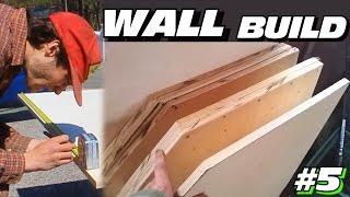 EXO's Subwoofer WALL Build #5 | Adding Long Hair Fiberglass In BOX | Designing & Cutting SUB Baffles