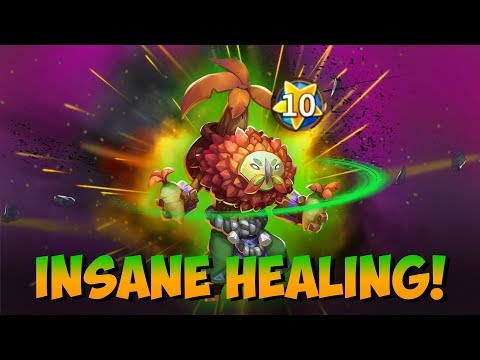 Plant Warrior Devo GAME PLAY Crazy Heals + Dmg Castle Clash