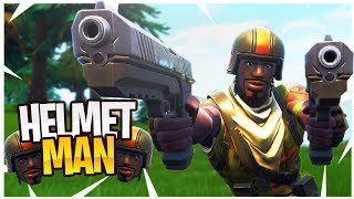 The Adventures of HELMET MAN in Random Squads! - PS4 Pro Fortnite Random Squads Gameplay!