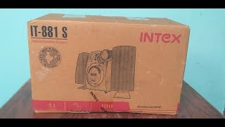 Intex IT-881 S 2.1 Computer Multimedia Speaker Unboxing and Review- The Best Value