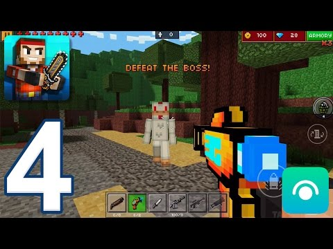 Pixel Gun 3D - Gameplay Walkthrough Part 4 - Block World: Levels 1-3 (iOS, Android)