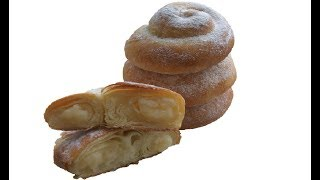 "Pambiq kimi,yup-yumusaq,Ispan bulkalari.Испанские булочки ""Ensaimadas"" с заварным кремом"