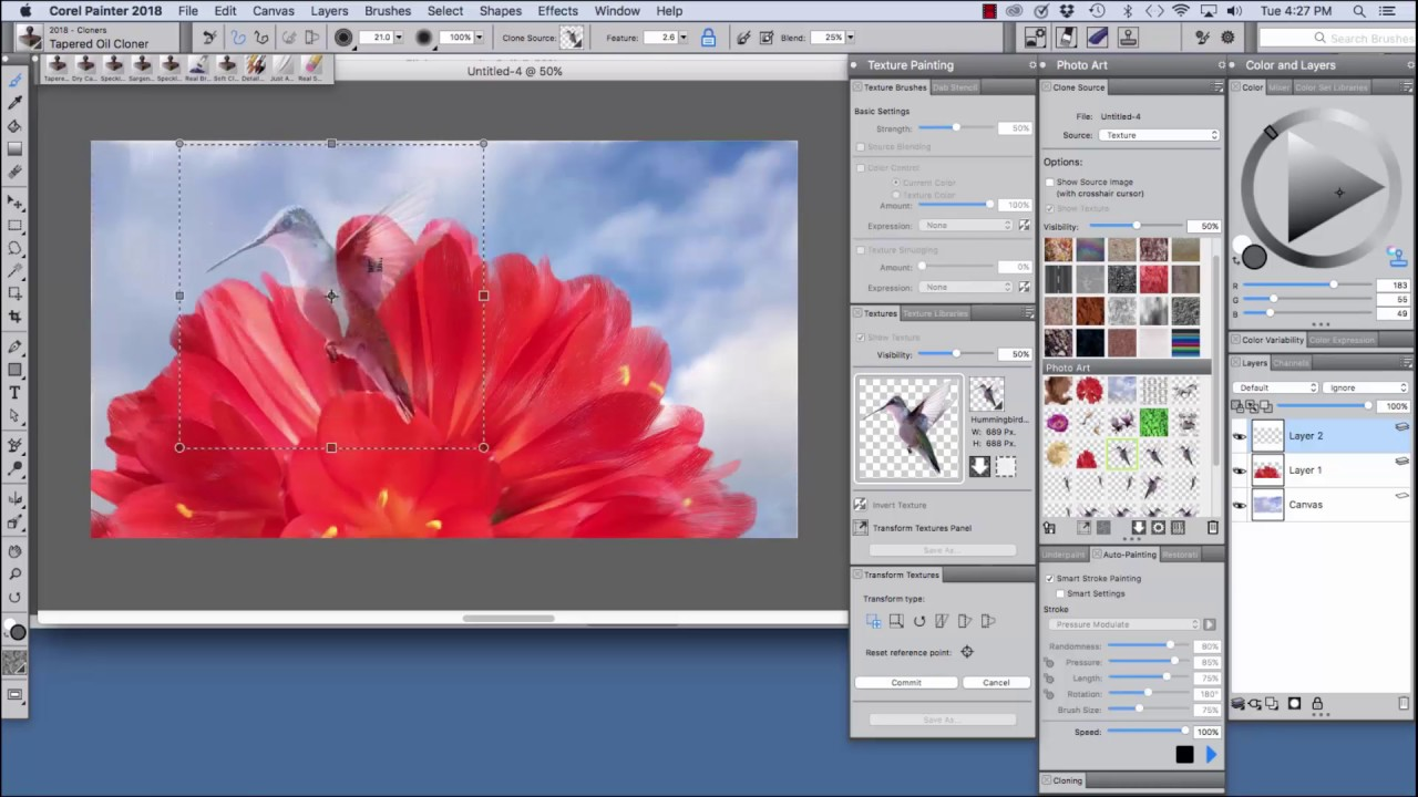 Corel Painter 2018 Digital Art Software New Cloning Enhancements Youtube