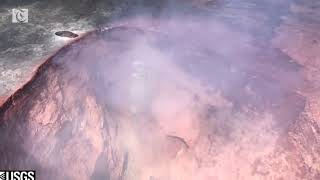 Video shows eruption on fissure 16 of Kilauea volcano