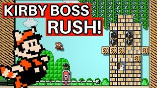 Superb Kirby Boss Rush Challenge in Super Mario Maker 2