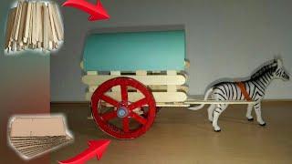 Bullock Cart Crafts || DIY Room Decoration Idea
