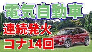 謎の連続火災事故が発生している電気自動車【コナ】