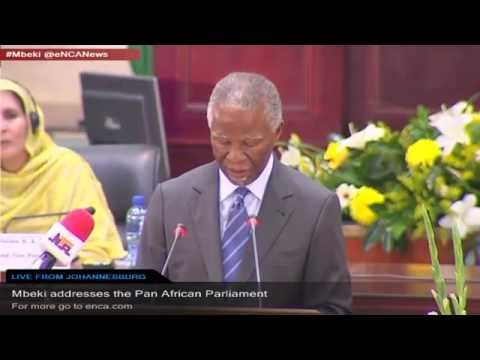LIVE: Mbeki addresses the Pan African Parliament
