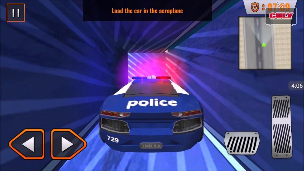 Trò chơi vận chuyển xe cảnh sát lên máy bay cu lỳ chơi game lồng tiếng vui nhộn