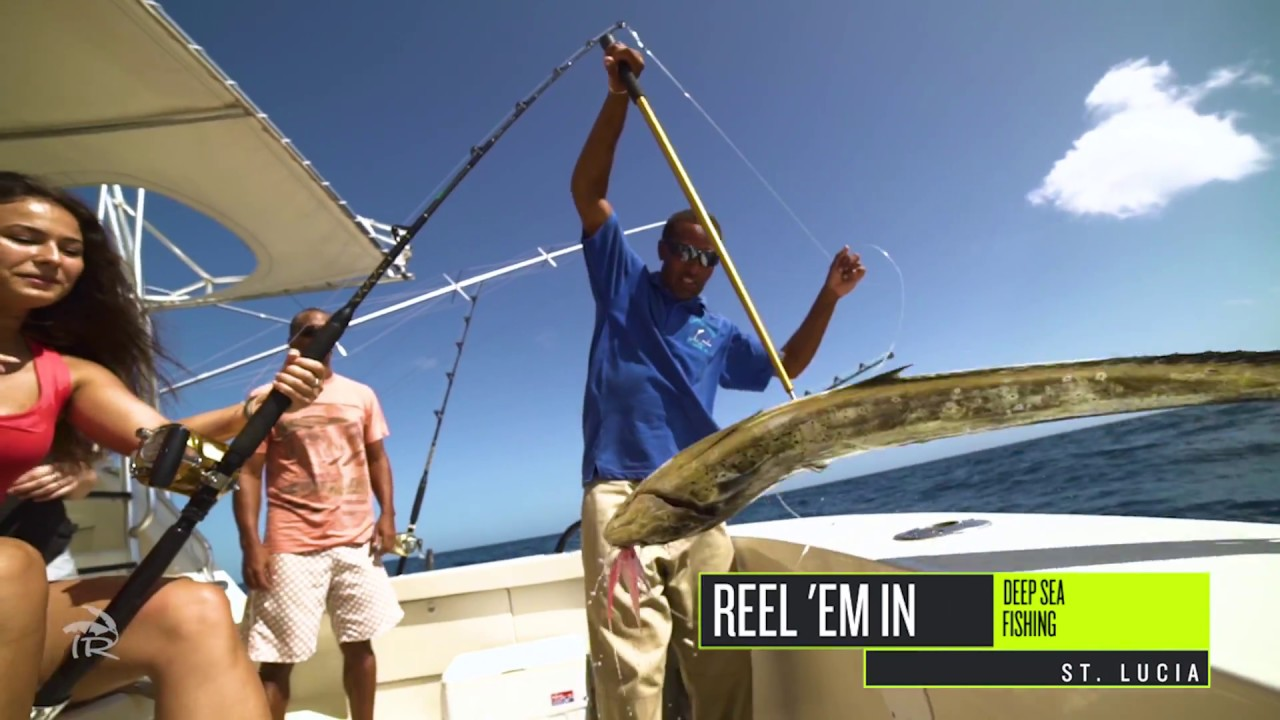 Deep sea fishing in st lucia with island routes youtube for Deep sea fishing st lucia