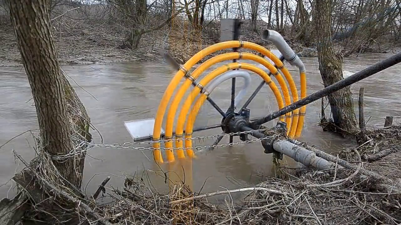 Water Wheel Pump Youtube