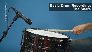 Basic Drum Miking: The Snare Drum