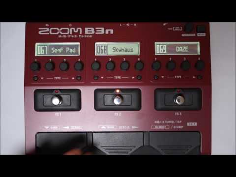 ZOOM B3N B3next Multi-Effects Processor for Bass PATCH 064-075