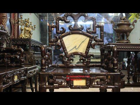 Bàn ghế gỗ trắc – Bộ ghế Móc Mỏ