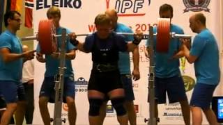 RAW Squat 325 kg (@105 kg) Alex Raus. only 19 years old!!