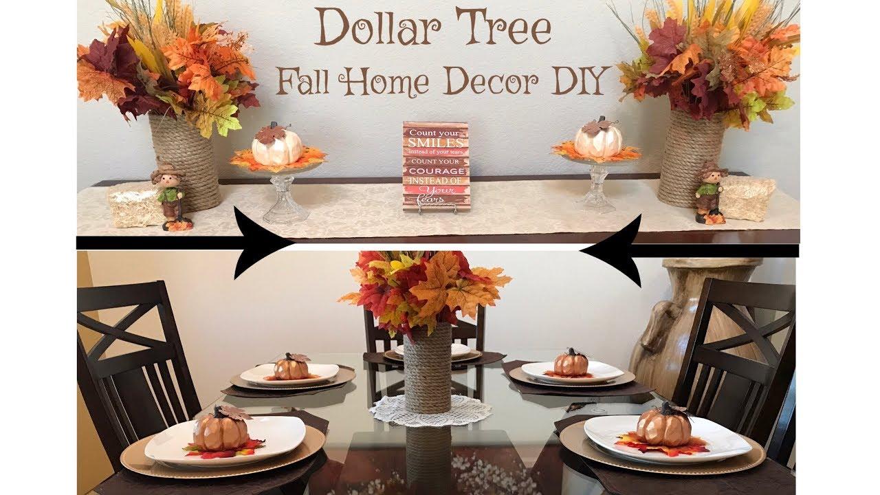 Dollar Tree Fall Home Decor DIY Tutorial