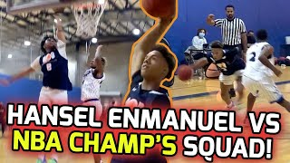Hansel Enmanuel Takes On NBA Champ Marreese Speights' Team! Goes Down To HALFCOURT BUZZER BEATER! 🤩