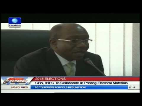 2015 Elections: CBN, INEC To Collaborate In Printing Electoral Materials