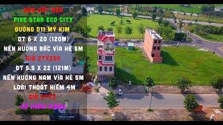 Bán Đất Nền   Khu Đô Thị Năm Sao   Five Star Eco City   Đường D11 Mỹ Kim   DT 6 X 20   5.5 X 22  