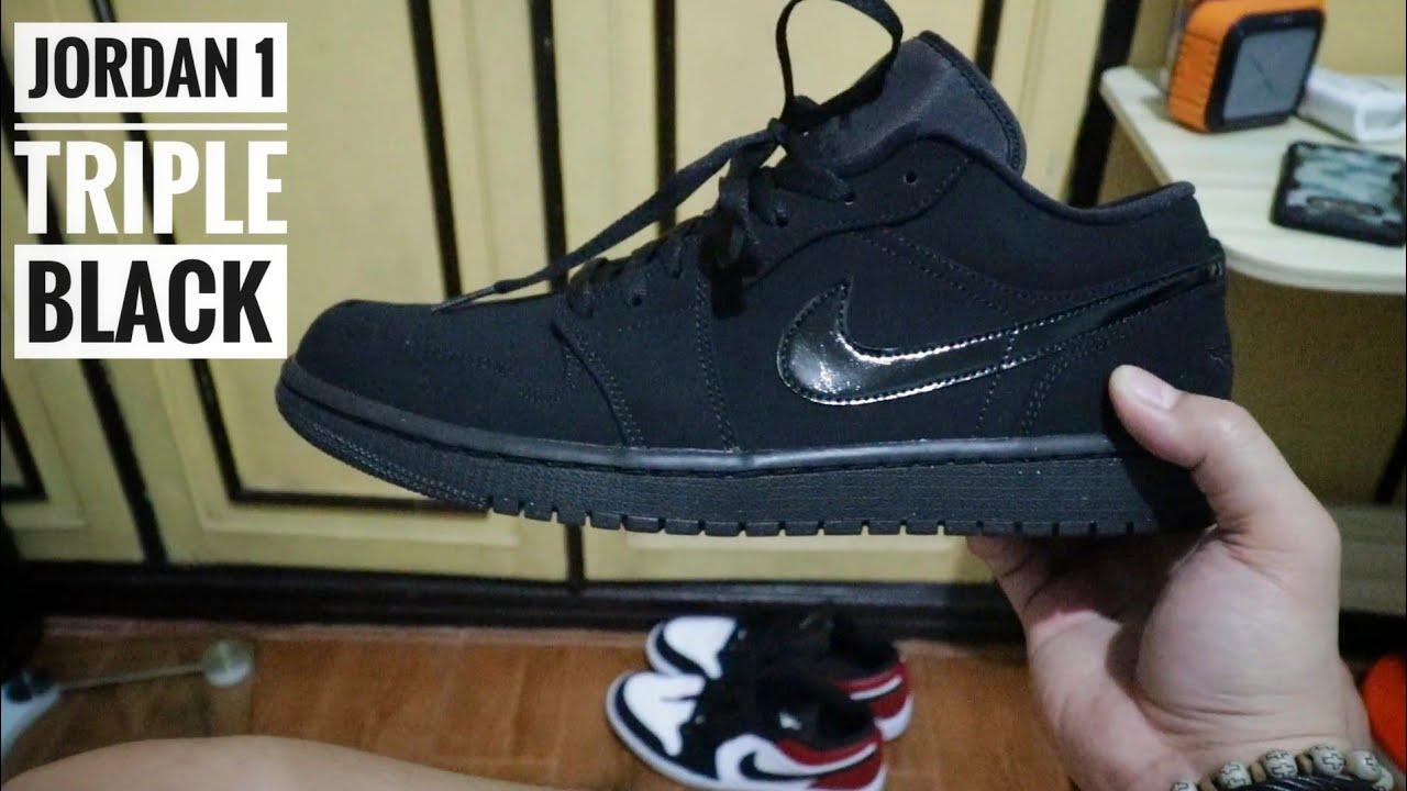 jordan 1 all black low