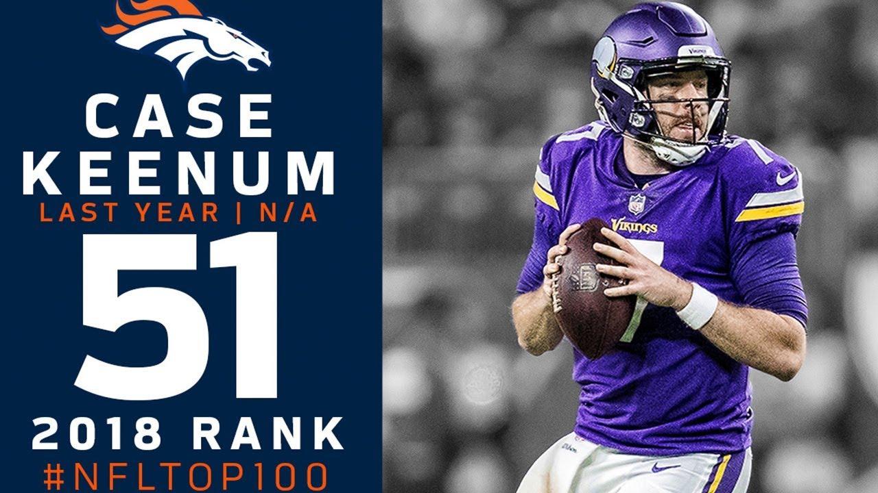promo code d8039 8da10 #51: Case Keenum (QB, Broncos) | Top 100 Players of 2018 | NFL