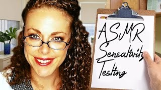 ASMR Sensitivity Test! Sleep Clinic Doctor Exam 3 Role Play, Ear to Ear Whisper Binaural Triggers