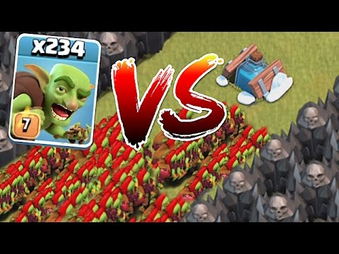 Thumbnail: WHO WILL WIN!?!😀 234 GOBLINS vs. NEW FREEZE TRAP!!🔸Clash of clans