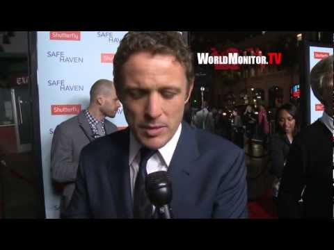 David Lyons and Nicholas Sparks ed at Safe Haven Los Angeles premiere