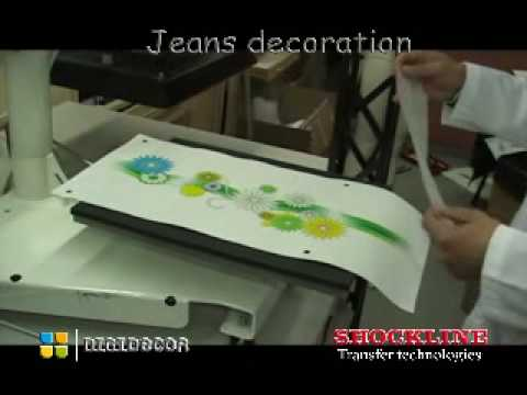Shock line decorazione jeans youtube for Decorazione jeans
