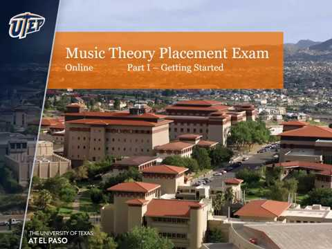 UTEP's Music Theory Placement Exam (Online): Part I - Logging in to Blackboard