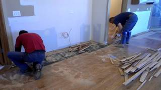 Art Flooring & Construction   Demo of existing wood floor