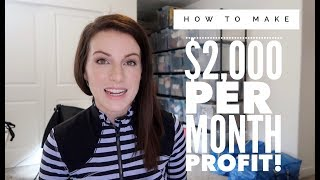 How to Make $2,000 PROFIT Each Month Selling on Ebay and Amazon! Let's Talk Real Numbers