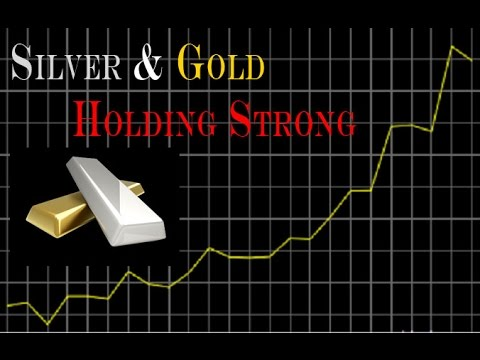 SILVER AND GOLD STILL HOLDING STRONG - DOW JONES STILL VERY WEAK