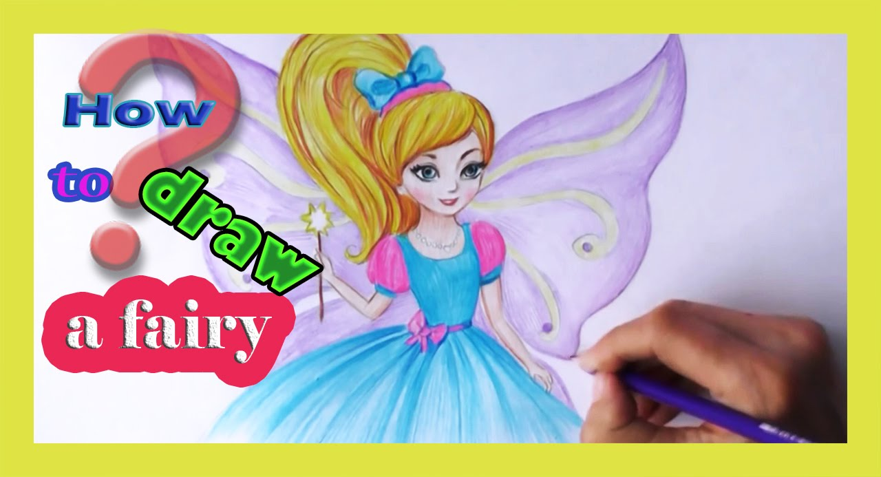 Drawing tutorial How to Draw a CARTOON character fairy! Drawing tutorial a  fairy