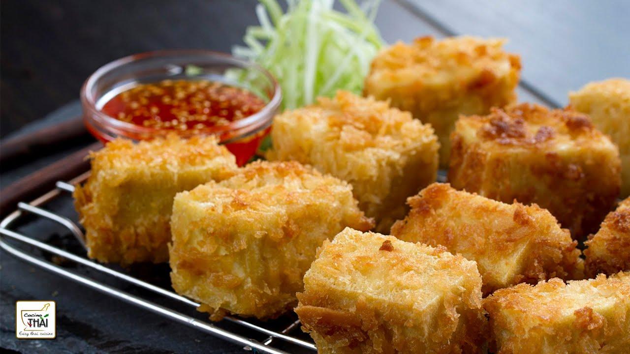 Como Cocinar Tofu Fresco | Tofu Frito Con Salsa Agridulce De Pimiento Rojo Receta De Tofu