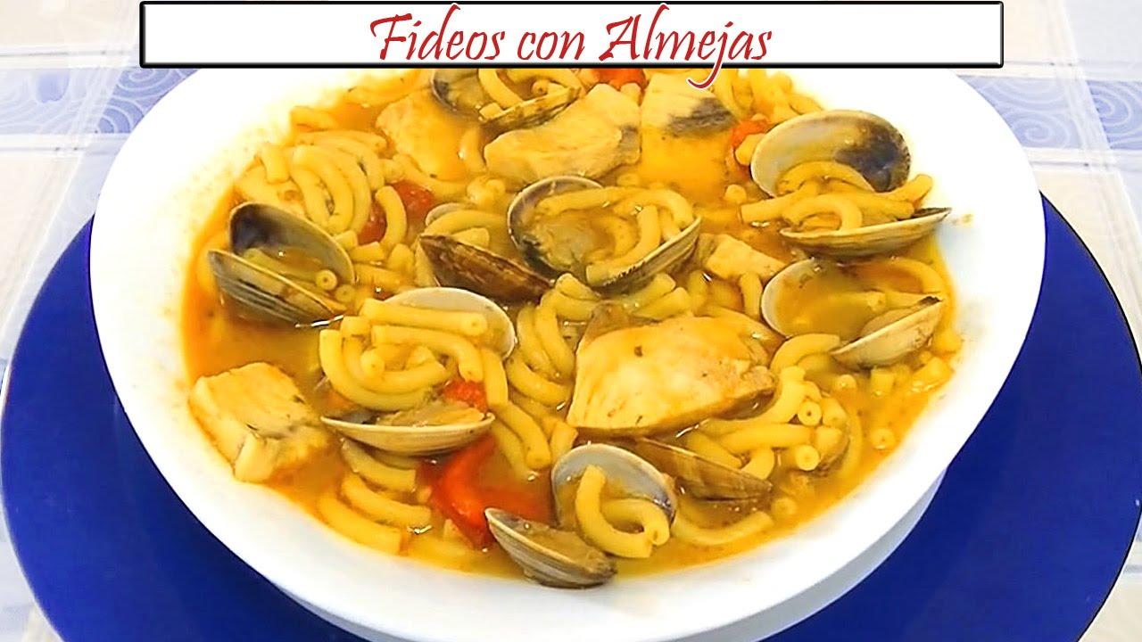 Fideos Con Almejas Receta De Cocina En Familia Youtube