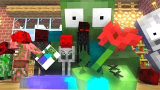 Monster School  Rip Zombie Tiny - Minecraft Animation
