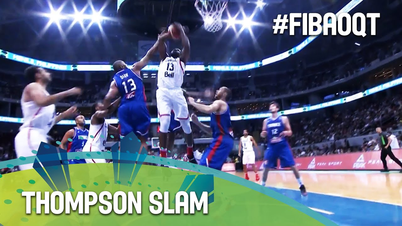 Thompson does the dirty work and slams it in!