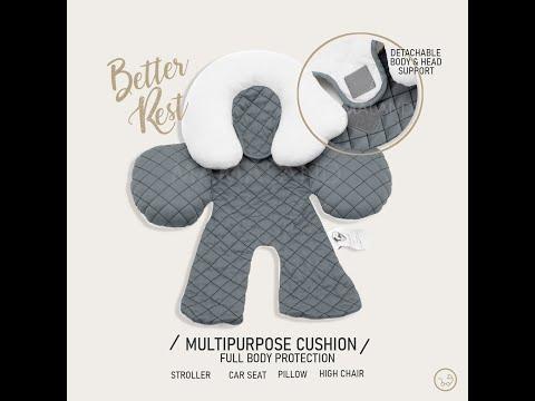 Mamaland Princeton Reversible Multipurpose Washable Universal Head & Body Support Protection Cushion