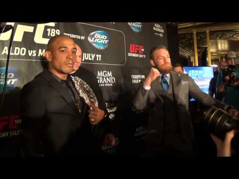 UFC 189 World Tour London - Jose Aldo and Conor McGregor faceoff