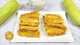 Хрустящие палочки из кабачков в сырной панировке простой рецепт закуски