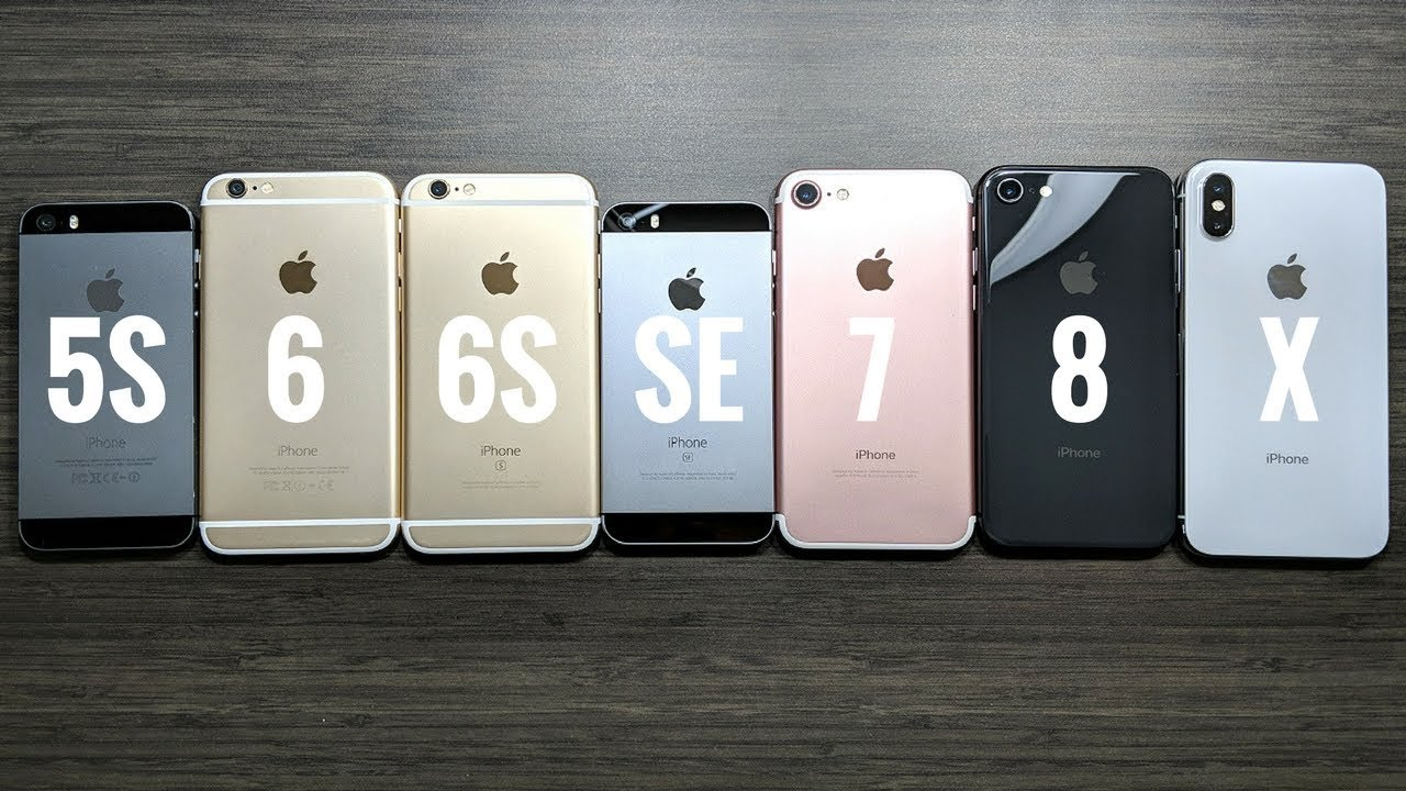 iPhone 5S vs iPhone 6 vs iPhone 6S vs iPhone SE vs iPhone ...Iphone 5 6 7