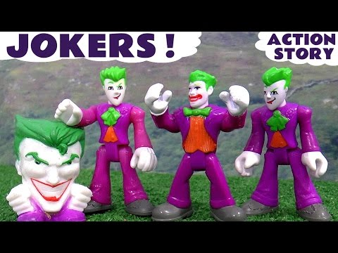 Joker vs Batman vs Superman and Minions | Thomas and Friends Superhero Toys accident with Diesel