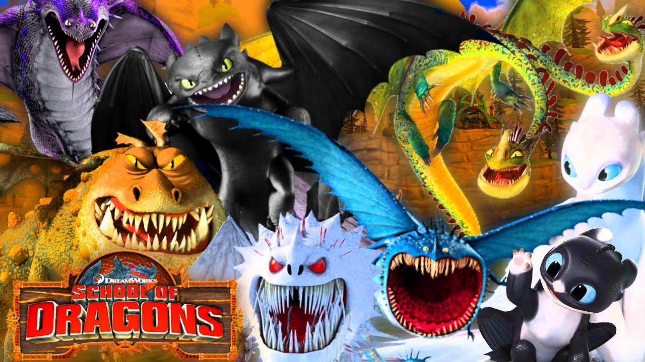 Todos Mis Dragones De Como Entrenar A Tu Dragon Escuela De Dragones Mortis Dragones Legendarios Youtube