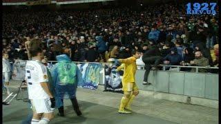 26.02.15 - Incident with fans - Dynamo 3:1 Guingamp - NSC Olimpiyskiy