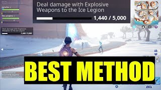"How to ""Deal damage with explosive Weapons to the Ice Legion"" - fortnite (ICE STORM CHALLENGES)"