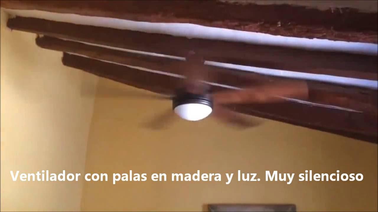 Ventilador de techo moderno vanu tienda de lamparas online youtube - Lampara de techo con ventilador ...