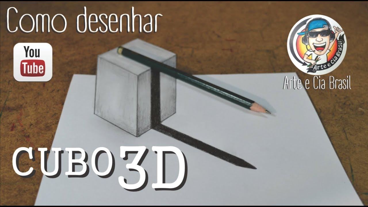 Como Desenhar Cubo Com Estilo 3d Passo A Passo